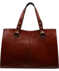 Kožená kabelka Giulia 2210 hnědá