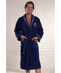 Soft Cotton Luxusní pánský župan MARINE v dárkovém balení S Tmavě modrá