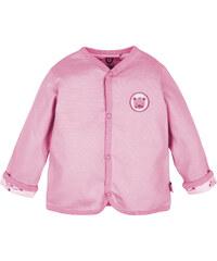 G-mini Dívčí oboustranný kabátek Medvídek - růžový