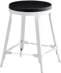 Madam Stoltz Kovová stolička black/white