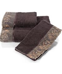 Soft Cotton Malý ručník LALEZAR 32x50 cm Tmavě hnědá