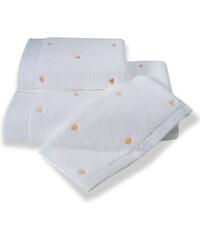 Soft Cotton Malý ručník MICRO LOVE 32x50 cm Bílá / lososové srdíčka