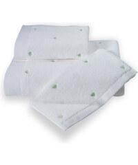 Soft Cotton Malý ručník MICRO LOVE 32x50 cm Bílá / mentolové srdíčka