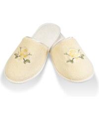 Soft Cotton Dámské bambusové pantofle NEHIR 26 cm (vel.36/38) Světle žlutá