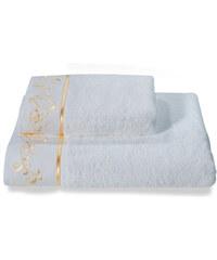 Soft Cotton Malý ručník RENGIN 32x50 cm Bílá / zlatá výšivka