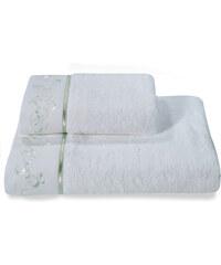 Soft Cotton Malý ručník RENGIN 32x50 cm Bílá / mentolová výšivka