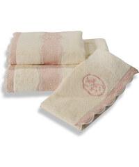 Soft Cotton Luxusní ručník BUKET 50x100 cm Krémová