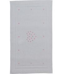 Soft Cotton Koupelnová předložka MICRO LOVE Bílá / růžové srdíčka