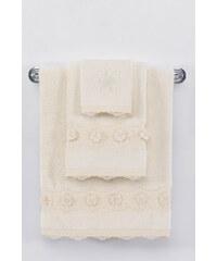 Soft Cotton Luxusní ručník YONCA 50x100 cm Krémová