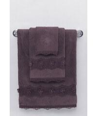 Soft Cotton Luxusní ručník YONCA 50x100 cm Tmavě hnědá