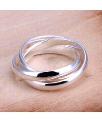 Lesara Versilberter Dreier-Ring - Silber - 52