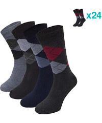 Lesara 24er-Set Business-Socken Karo - 39-42