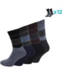 Lesara 12er-Set Business-Socken Streifen - 39-42