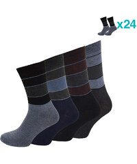 Lesara 24er-Set Business-Socken Streifen - 39-42