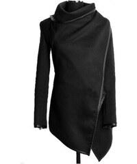 Dámský jarní/podzimní kabát Bural černý - černá