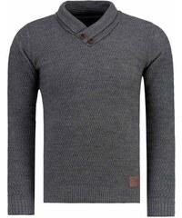 Pánský svetr Abernathy tmavě šedý - dark šedá