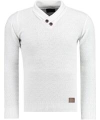 Pánský svetr Abernathy bílý - bílá