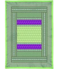 Bassetti Plaid mit Muster grün 135x190 cm