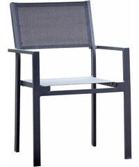 JANKURTZ jankurtz Gartenstuhl mit Armlehne cubic stapelbar 4er-Set schwarz
