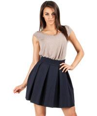 MOE Skládaná sukně modrá