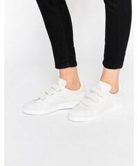 Adidas Originals - Stan Smith - Baskets en daim à fermeture velcro - Serpent - Gris