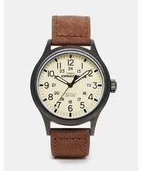 Timex - Originals T49963 - Montre à bracelet en daim - Marron - Marron