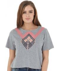 Firetrap Damen Cropped T-Shirt Grau