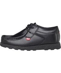 Kickers Junior Fragma Lace Leather Shoes Black Black