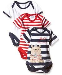 Twins Baby - Jungen Kurzarm-Body, maritimer Druck, 3 Motive