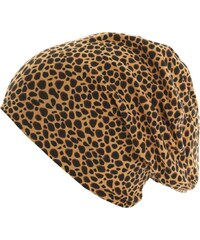 MasterDis Printed Jersey Beanie Cheetah black