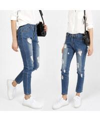 Lesara Knöchellange Skinny-Jeans im Used-Look - S