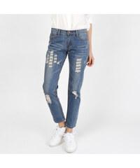 Lesara Knöchellange Skinny-Jeans mit Used-Details - S