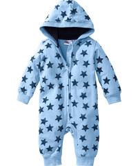 bpc bonprix collection Combinaison sweat bébé en coton bio, T. 56/62-92/98 bleu manches longues enfant - bonprix