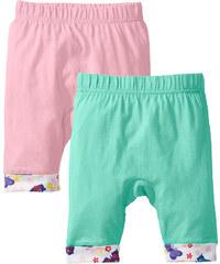 bpc bonprix collection Lot de 2 pantalons bébé en coton bio, T. 56/62-104/110 vert enfant - bonprix