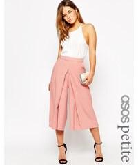 ASOS PETITE - Jupe-culotte large plissée sur le devant - Rose