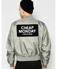 Cheap Monday - Rank - Blouson aviateur en nylon avec écusson logo dans le dos - Vert - Vert