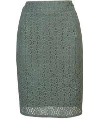 DÁMSKÁ KRAJKOVÁ SUKNĚ, sukně olivová