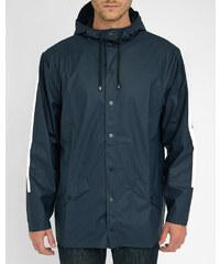 RAINS Regenmantel mit Kapuze in Marineblau mit weißen Stripes EXKLUSIVMODELL 5 JAHRE MENLOOK