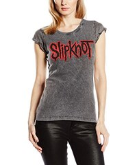 Slipknot Damen T-Shirt Logo Acid Wash
