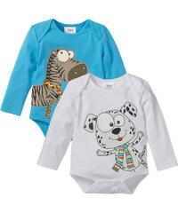 bpc bonprix collection Lot de 2 bodies bébé à manches longues en coton bio blanc enfant - bonprix