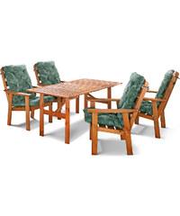 bpc living Salon de jardin Riga 9 pces. avec 4 chaises écru maison - bonprix