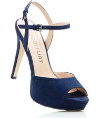 BODYFLIRT Sandales bleu avec 12 cm haut talonfemme - bonprix