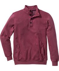 bpc bonprix collection Sweat-shirt col camionneur Regular Fit rouge manches longues homme - bonprix