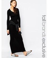 Taller Than Your Average TTYA - Robe longue à manches longues fendue au dos - Noir