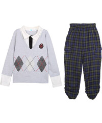Lesara 2-teiliges Set für Kinder 2-in-1-Shirt & Cargohose - 92