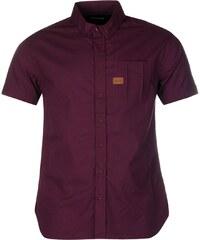 Košile pánská Firetrap Short Sleeve Grape Wine
