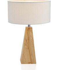 Andrea house - Lampa bílá/dřevěná, průměr 24,5x28cm (IL15170)