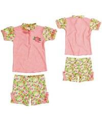 Playshoes Plavky dětské koupací komplet UPF 50+ růže