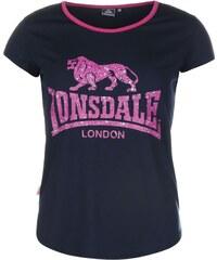 Tričko Lonsdale 2 Stripe Large Logo Shirts dám.
