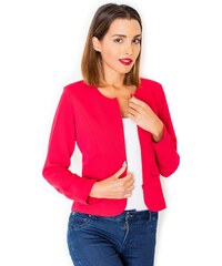 Dámské sako, červené sako KATRUS na zip (vel.L skladem) S červená